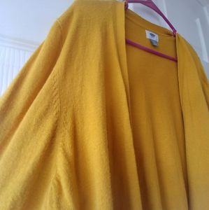 Old Navy Yellow Open Front Cardigan